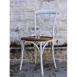 Vintage White Furniture - Cafe Iron Chair