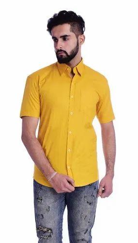 Cotton Solid Half Sleeve Shirt