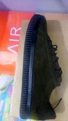 Men Black Velvet Shoes