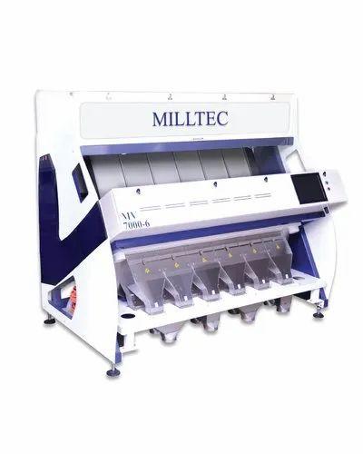Milltec MV 7000-6 Color Sorter - Color Sorting Solutions, Capacity: 5 Tph