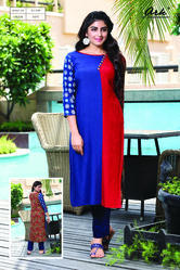 COLOR-BLOCK KURTI