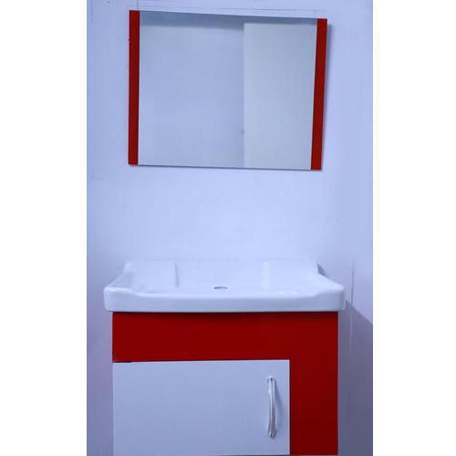 Stylx Red And White Bathroom Cabinet