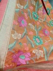 Brasso Silk Saree, Very Soft, Light, Good Quality With Bp, 6.3 m (With Blouse Piece)