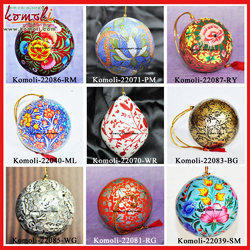 Christmas Ball Hand Painted Ornament Decoration Paper Mache