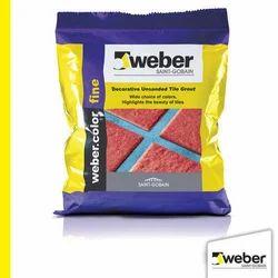 Weber color Fine Decorative Unsanded Tile Grout