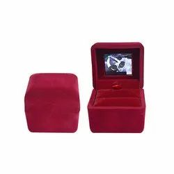 Compact Video White Book Ring Box