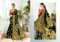 Border Multicolor Banarasi Art Silk Traditional Wear Saree, With Blouse Piece