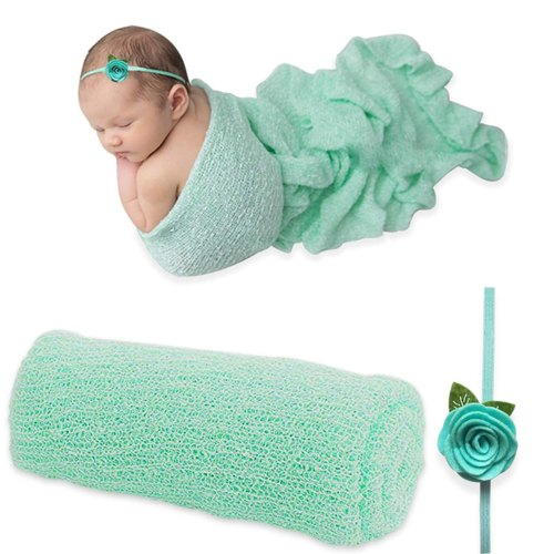 Newborn Baby Photography Photo Prop Stretch Wrap Baby Long Ripple Wrap US #