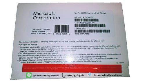 MS Windows 10 Professional OEM Pack - Software World, Mumbai   ID