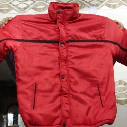 Red Nylon Plain Security Jacket