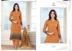 Sudriti Nausheen Stylish Party Wear Maslin Suit