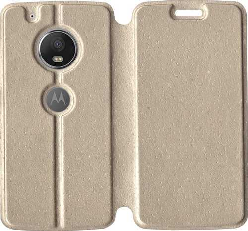 new product 86acd 43f02 Motorola Moto G5 Plus Flip Cover (gold)