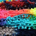 Handmade Colored Pom Pom Lace