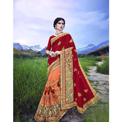 Designer Embroidery Work Saree