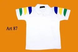 White Kids School Polo T Shirt