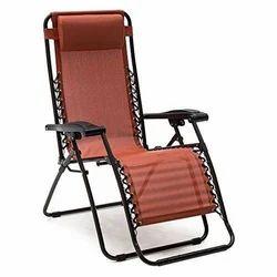 Elecktra Zero Gravity Comfort Relax Recliner Chair, Folding Chair Cum Bed- RED