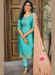 Cotton Unstitched Salwar Suit