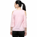 Poly Crepe Cold Shoulder Top