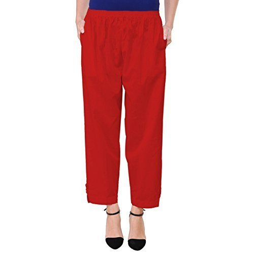 Vastraa Fusion Women Solid Color Khadi Flex Cotton Palazzo Pant