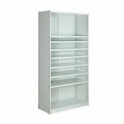 Grey CRCA Steel Panda Shelving System with Shelves & Back Panels