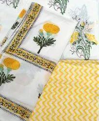 Printed Cotton Dress Material In Jaipur
