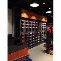 Plastic Wall Mounted Svarn Sports Shoe Display Fixtures