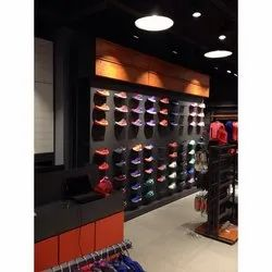 wooden and Metal Wall Mounted Svarn Sports Shoe Display Fixtures