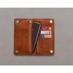 Humite Black,Tan Ladies Leather Wallet, Compartments: 4