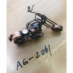 Brass Bike Showpiece, For Gifting, Packaging Type: Box