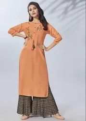 Pr Fashion Launched Beautiful Readymade Pair Of Kurti And Palazzo