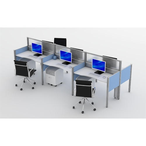 Partial Laminated Board DTMC Open Desk Workstation | ID: 11161356891