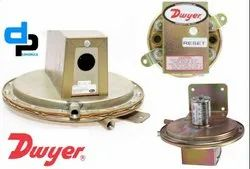 Dwyer 1626-10 Series 1620 Single and Dual Pressure Switch Range 2.0-11 w.c