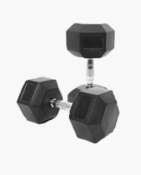 Black Fixed Weight Gym Dumbbells