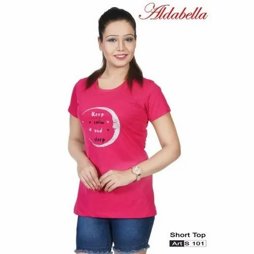 Aldabella Polycotton Ladies Casual Wear Short Top, Packaging Type: Packet
