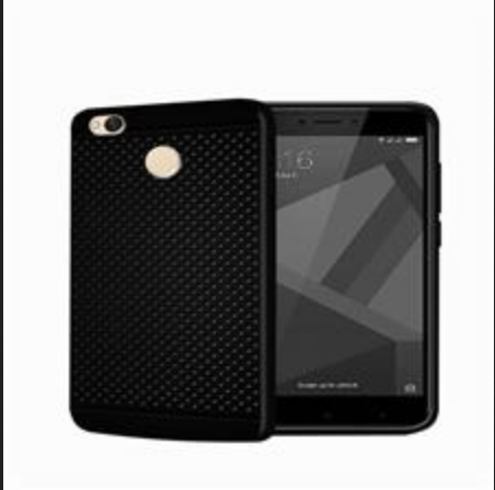 cheaper c4757 6537b Mi Redmi 4 Black Dotted Back Cover