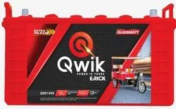 QWIK Red E-Rickshaw Battery QER1600-110AH, Voltage: 12 V
