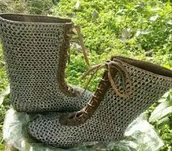 Leather Shoes with Chainmail