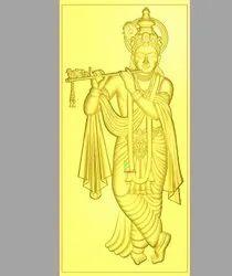 God Krishna 3D Design for CNC Router