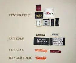 Cutting And Folding Style Woven Label