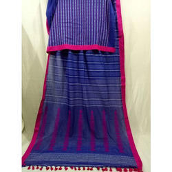 Ladies Cotton Traditional Handloom Saree, Length: 6.3 m