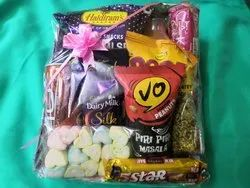 Yellow, White Or Blue Gift Hamper Basket