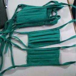 Green Cotton Cloth Face Mask