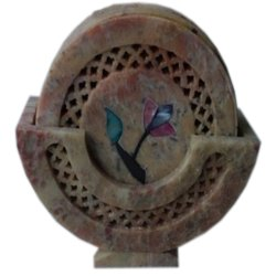 Hand Carved Home Decor Coaster Set
