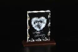 3D-1118E Custom Laser Engraved Crystal