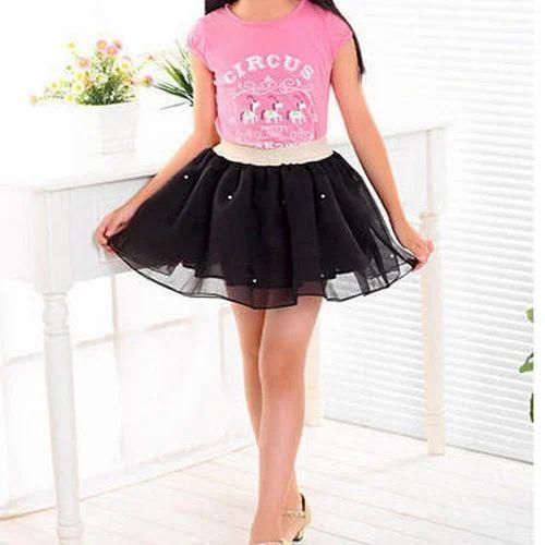 199f1706a Cotton Plain Kids Mini Skirt, Sahelee Creation   ID: 14641776148