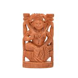 Wooden Carved Laxmi Figure