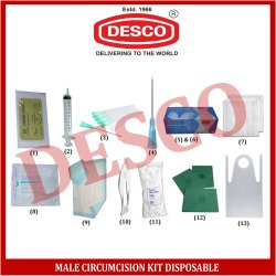 Male Circumcision Kit Disposable, for Medical
