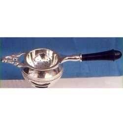 Elegant Silver Plated Tea Strainer