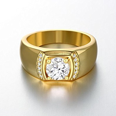 Real Stylish Diamond Mens Gold Ring at Rs piece