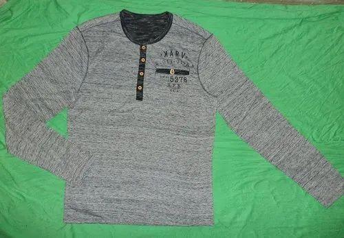 Basic Plain Cotton Men T Shirt